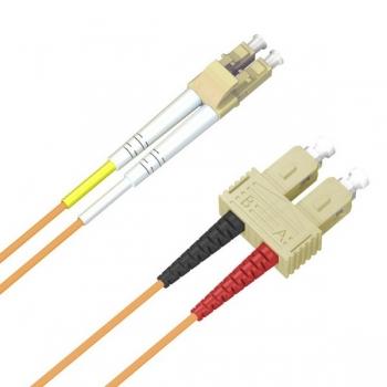ACS FO Duplex Patch Cable, 62.5/125 (MM), OM1, LC-SC, LSZH, orange, 3.0m