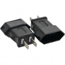 InLine Power Adapter,black,  NEMA 1-15 male plug (2pin) to Euro female plug