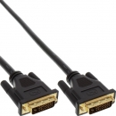 InLine DVI-D Dual Link Cable, black, 1.0m,  digital 24+1 Male - Male, gold plated