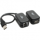 InLine USB 1.1 Extension Converter over Cat.5e, Dongle Kit, extends up to 60m / 200 ft.