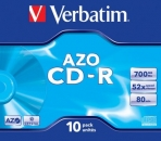 Verbatim CD-R 52x, 700MB, Jewel Case, 10-pack