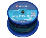 Verbatim CD-R 52x, 700MB, Spindle, 50-pack