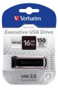 Verbatim USB Drive 3.0 Metal Executive 16GB, black