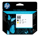 HP 88 Printhead, black and yellow