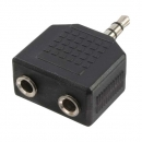 LogiLink Audio Stereo Y-Adapter, black,  1x 3.5mm Male to 2x 3.5mm Female
