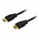 LogiLink HDMI Cable, Hi-Speed w/Ethernet, black, 1.0m  HDMI Male to HDMI Male, gold-plated