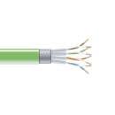 BlackBox CAT6 Stranded Bulk Cable, SSTP, PIMF 26AWG, PVC, 1,000-ft. / 305m, green