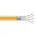 BlackBox CAT6 Stranded Bulk Cable, SSTP, PIMF 26AWG, PVC, 1,000-ft. / 305m, orange
