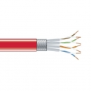 BlackBox CAT6 Stranded Bulk Cable, SSTP, PIMF 26AWG, PVC, 1,000-ft. / 305m, red