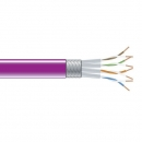BlackBox CAT6 Stranded Bulk Cable, SSTP, PIMF 26AWG, PVC, 1,000-ft. / 305m, violet