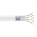 BlackBox CAT6 Stranded Bulk Cable, SSTP, PIMF 26AWG, PVC, 1,000-ft. / 305m, white