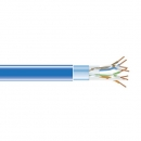 BlackBox GigaBase 350 CAT5e Solid Bulk Cable, F/UTP 24AWG, PVC, 1,000-ft. / 305m, blue