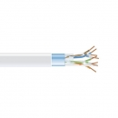 BlackBox GigaBase 350 CAT5e Solid Bulk Cable, F/UTP 24AWG, PVC, 1,000-ft. / 305m, white