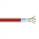 BlackBox GigaBase 350 CAT5e Solid Bulk Cable, F/UTP 24AWG, PVC, 1,000-ft. / 305m, red