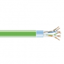BlackBox GigaBase 350 CAT5e Solid Bulk Cable, F/UTP 24AWG, PVC, 1,000-ft. / 305m, green