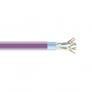 BlackBox GigaBase 350 CAT5e Solid Bulk Cable, F/UTP 24AWG, PVC, 1,000-ft. / 305m, violet