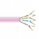 BlackBox GigaTrue 550 CAT6 Stranded Bulk Cable,   UTP 24AWG, PVC, 1,000-ft. / 305m, pink