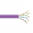 BlackBox GigaTrue 550 CAT6 Stranded Bulk Cable,  UTP 24AWG, PVC, 1,000-ft. / 305m, purple