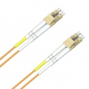 ACS FO Duplex Patch Cable, 50/125 (MM), OM2, LC-LC, LSZH, orange, 1.0m