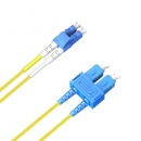 ACS FO Duplex Patch Cable, 9/125 (SM), OS1/OS2, LC-SC, LSZH, yellow, 1.0m